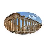 Athens Oval Car Magnet