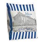 Athens Burlap Throw Pillow