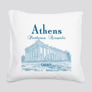 Athens Square Canvas Pillow
