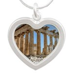 Athens Silver Heart Necklace