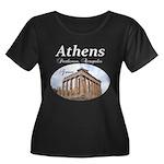 Athens Women's Plus Size Scoop Neck Dark T-Shirt