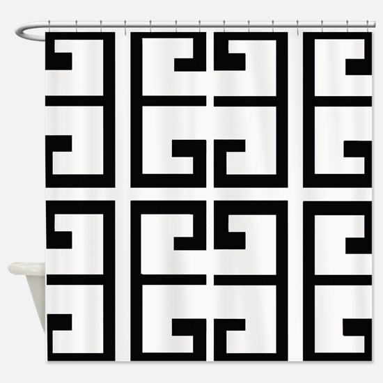 Black and White Tile Shower Curtain