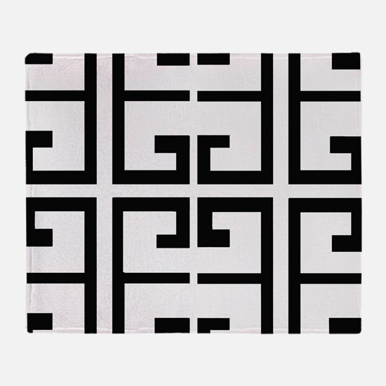 Black and White Tile Throw Blanket