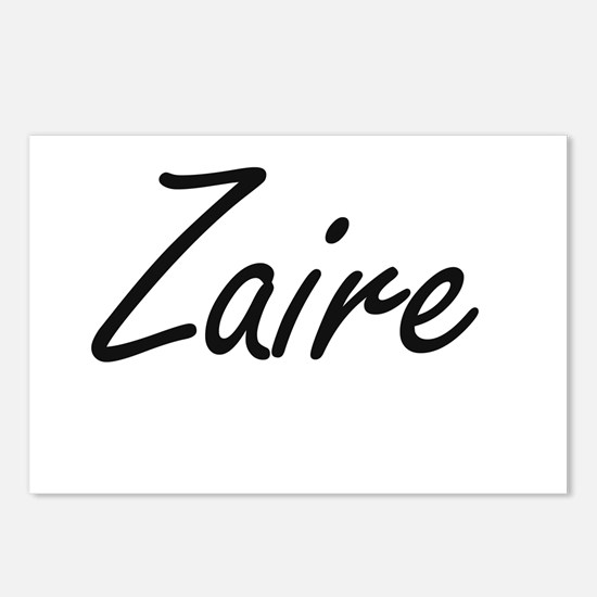 Zaire Artistic Name Desig Postcards (Package of 8)