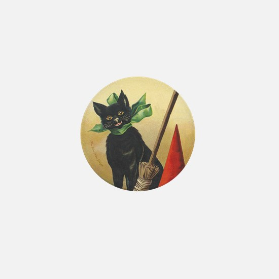 TLK011 Halloween Cat Mini Button