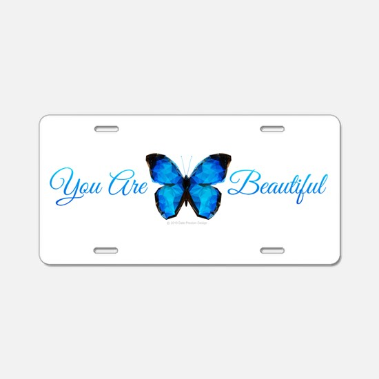 Unique Christian butterfly Aluminum License Plate