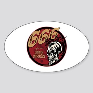 666 Sign of the Devil Oval Sticker