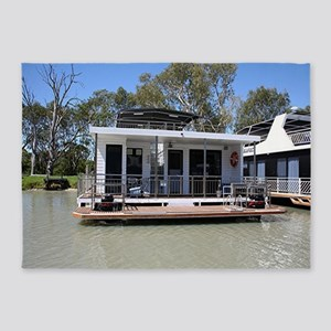 Houseboat on the Murray River, Mann 5'x7'Area Rug
