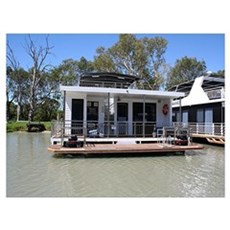 Houseboat on the Murray River, Mannum, South Austr Poster