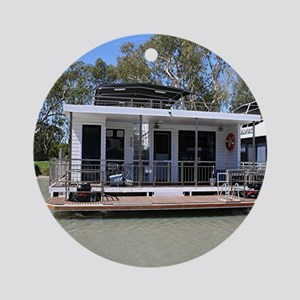 Houseboat on the Murray River, Mann Round Ornament