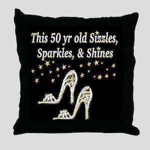 GLAMOROUS 50TH Throw Pillow