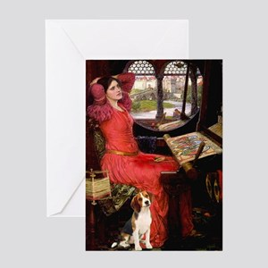 The Lady & her Beagle Greeting Card
