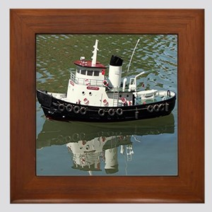 Model tugboat Framed Tile