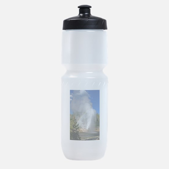 Riverside Geyser with Rainbow at Yel Sports Bottle