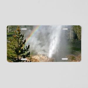 Riverside Geyser with Rainb Aluminum License Plate