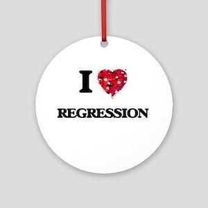I Love Regression Ornament (Round)