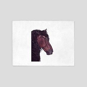 friesian horse 5'x7'Area Rug