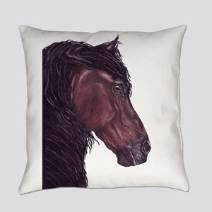 friesian horse Everyday Pillow