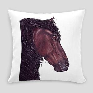 friesian horse Everyday Pillow