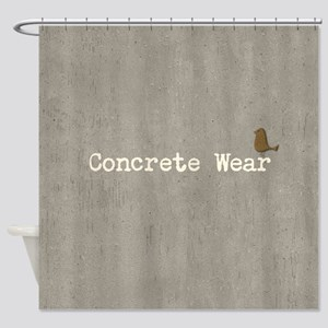 Funny or Otherwise Concrete Shower Curtain