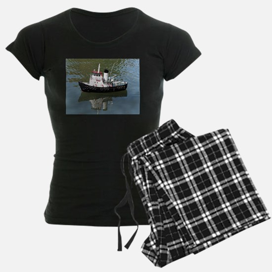 Model tugboat reflections in Pajamas