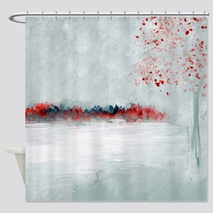Icing with Red Kisses Shower Curtain