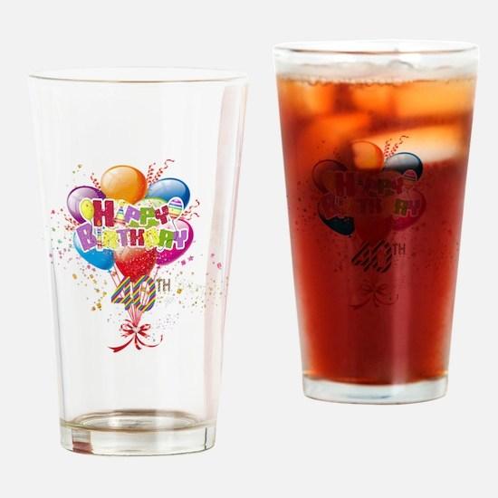 Happy 40th Birthday Drinking Glass