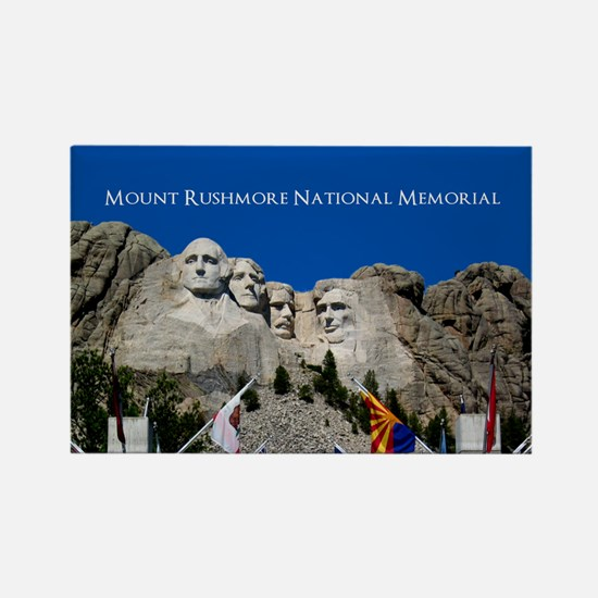Funny Rushmore Rectangle Magnet