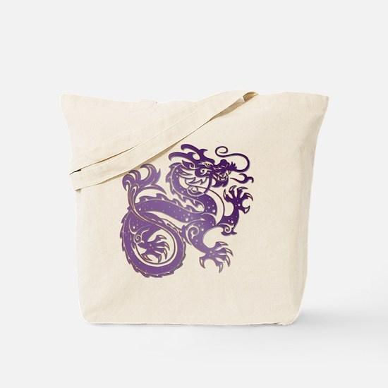 Funny Amethyst dragon Tote Bag