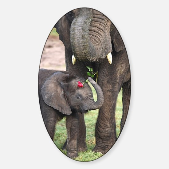 ROMANCE ELEPHANT Sticker (Oval)