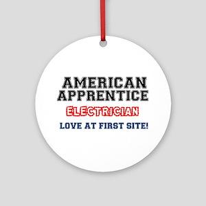 AMERICAN APPRENTICE - ELECTRICIAN Ornament (Round)
