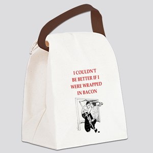 hockey joke Canvas Lunch Bag