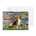 Lilies (#2) - Beagle #7 Greeting Cards (Pk of 20)