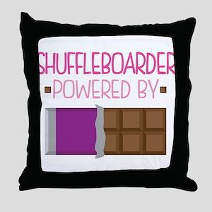 Shuffleboarder Throw Pillow