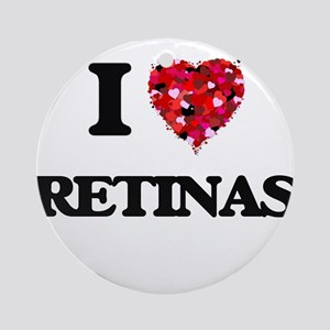 I Love Retinas Ornament (Round)
