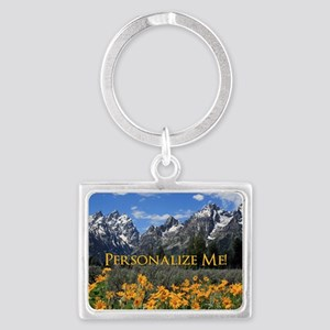 Personalizable Photo Souvenir G Landscape Keychain
