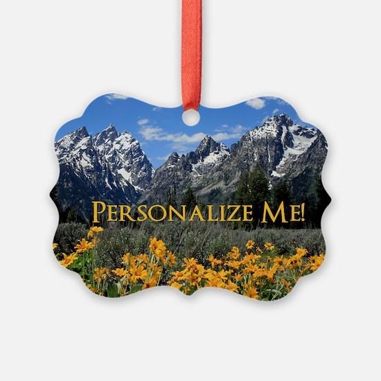 Personalizable Photo Souvenir Gra Ornament