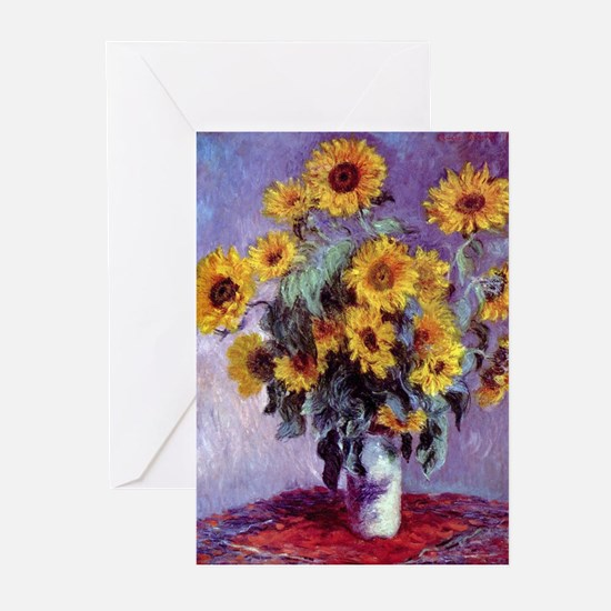 Bouquet of Sunflowers by Claude Mon Greeting Cards