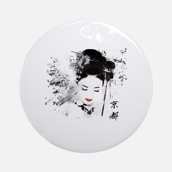 Kyoto Geisha Round Ornament