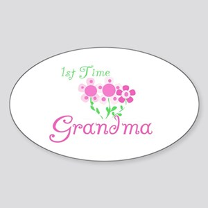 1st Time Grandma Oval Sticker