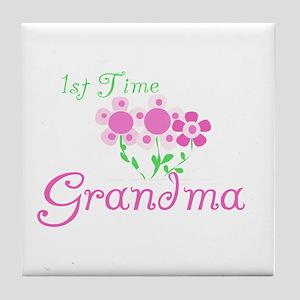 1st Time Grandma Tile Coaster