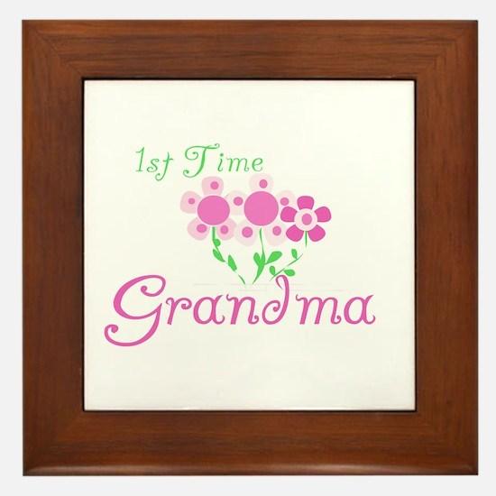1st Time Grandma Framed Tile
