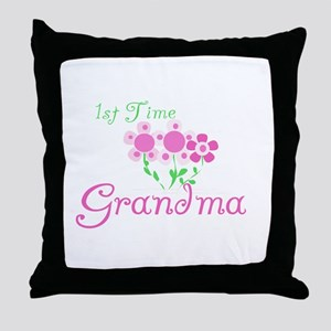 1st Time Grandma Throw Pillow