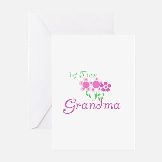 1st Time Grandma Greeting Cards (Pk of 10)
