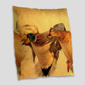 modern art Burlap Throw Pillow
