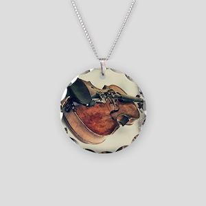 modern art Necklace Circle Charm