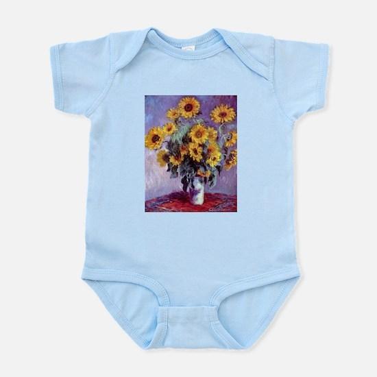 Bouquet of Sunflowers by Claude Monet Body Suit