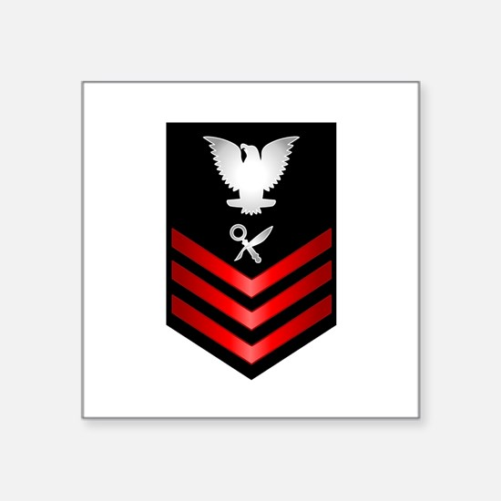 "Naval officer Square Sticker 3"" x 3"""