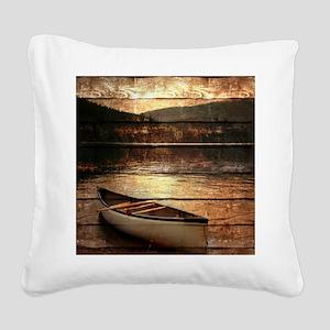 rustic Square Canvas Pillow