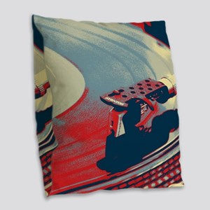 rustic Burlap Throw Pillow